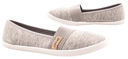 Elara - Pantofole Donna Grau Sport