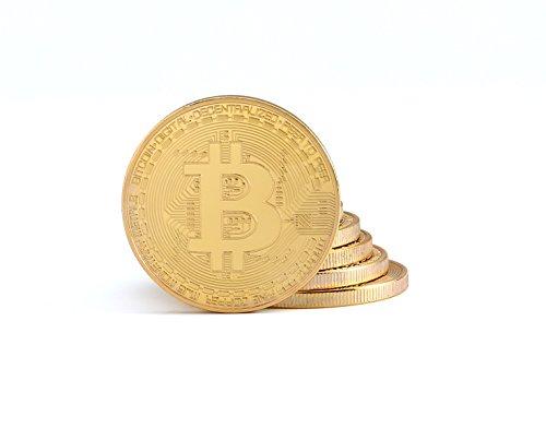 3X Physische Bitcoin Münzen mit 24-Karat Echt-Gold überzogen | Wahre Sammlerstücke mit Schutzhülle | GRATIS E-Book: Die Geschichte von Bitcoin (Gold Münzen Sammlerstück)