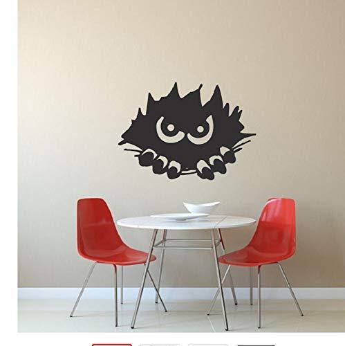 Wandaufkleber Kinderzimmer Schlafzimmer Halloween Vinyl Wandtattoo Oktober Peeking Monster Silhouette Mural15X23Cm ()