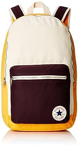 Converse Core Plus Canvas Backpack Multi-Coloured Solar Orange Natural Size:26 x 45.5 x 12.5 cm, 15 Liter