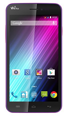 Wiko Lenny Dual-SIM Smartphone (5 Zoll (12,7 cm) Touch-Display, 4 GB Speicher, Android 4.4) lila
