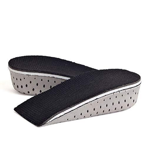 Ducomi® solette alzatacco ammortizzante unisex in memory foam - aumentano l'altezza di 3,3 cm, 1 paio