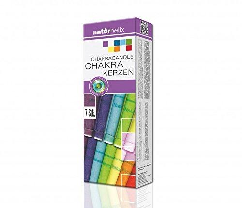Naturhelix Chakrakerzen in Spektralfarben - 7er-Packung