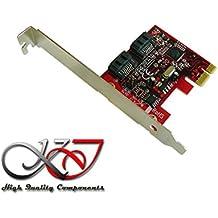 Kalea-Informatique–Scheda controller PCIe SATA 3.0–2porte–Raid 0/1–Chipset Marvell 88se9128-naa2–Gamma professionale/Componenti alta qualità–Pilota preinstallati per Windows/Mac/Linux. - Gamma Vista