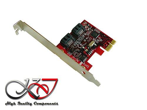 Kalea Informatique Karte Controller PCIe SATA 3.0-2Ports-RAID 0/1-Chipsatz Marvell 88se9128-naa2-Professionelle/Hochwertige-Treiber vorinstallierten für Windows/Mac/Linux