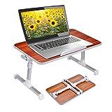 Soporte para ordenador portátil efecto madera