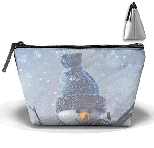 Awesome Snowman Travel Toiletries Bag Phone Coin Purse Cosmetic Pouch Pencil Case Tote Multifunction Storage Organizer