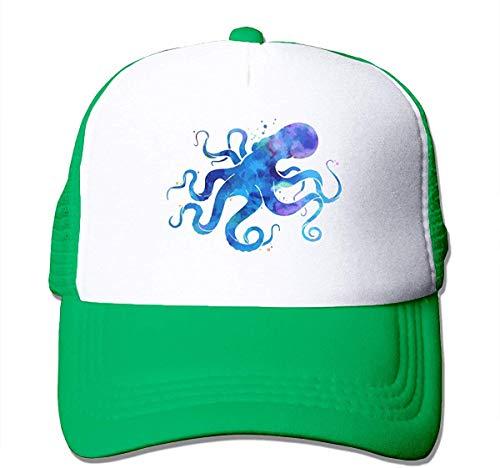 Blue Octopus Adjustable Mesh Trucker Baseball Cap Men Or Women Street Rapper Hat Cool6770