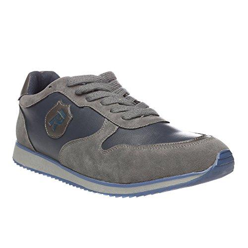 RIFLE Sneakers da uomo, scarpa bassa stringata - Mod. 162-M-340-451 Grigio - Blu