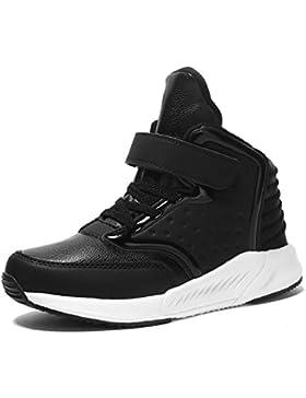 Leaproo Kinderschuhe High-Top Sneaker Für Jungen und Mädchen Wasserdichte Rutschfest Stiefel