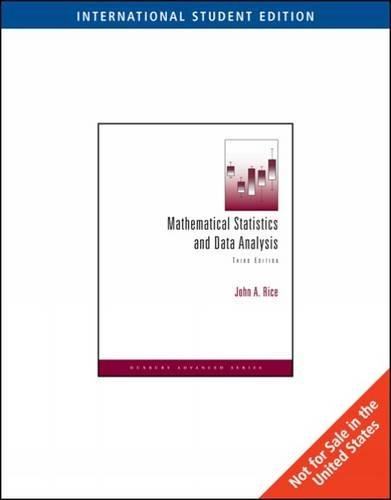 Mathematical Statistics and Data Analysis, International Edition (with CD Data Sets)