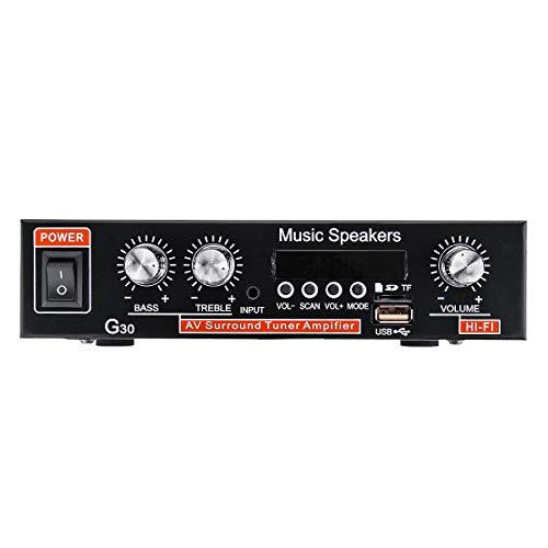 NICOLIE 12V 220V Bidireccionales Car Audio Bluetooth 2 Canales Digital Power Car Amplifier