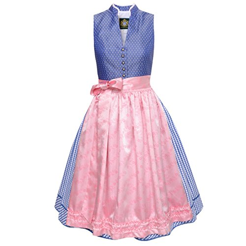 Hammerschmid Damen Trachten-Mode Midi Dirndl Rinsee in Blau traditionell
