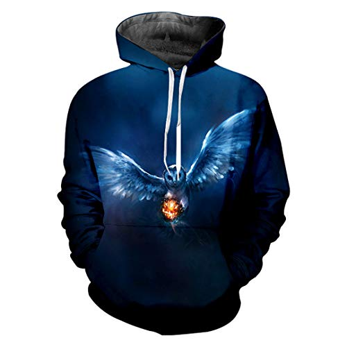 Winter Liebling Horrible Halloween Hoodies 3D Herren Kapuzenpullover Pumpkin and Eagle ()