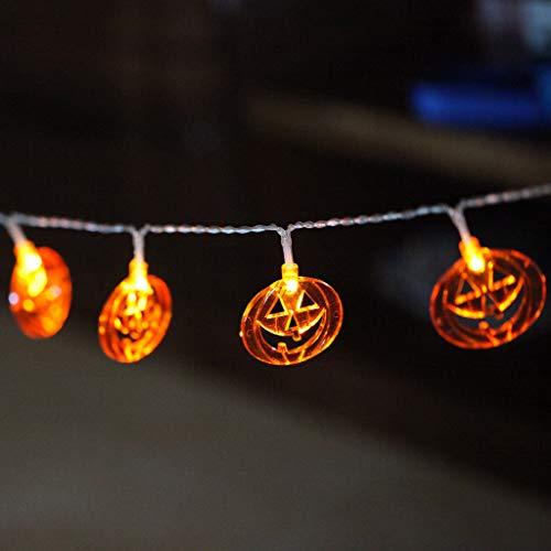 Jigsaw Kostüm Einfach - Ears Fantastische Kürbis LED Lichterketten Halloween Dekoration Zubehör Lampe Horror