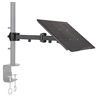 Allcam Laptop Tray or Tablet Tray attachment with adjustable arm for 35mm pole or Monitor Stands MDM11S, MDM12D, MDM12Q