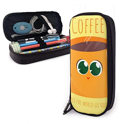 Kaffee bringt die Welt in Schwung Federmäppchen bleistiftbeutel make-up tasche veranstalter stiftbeutel halter box stifthalter