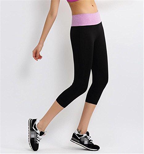 Femme étirement serré yoga pantalon / sport pantalon / Gym Violet