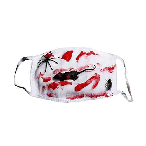 SilenceID Halloween Scary Masken für Männer Horror Scary Mund Maske Zombies Bloody Teeth Maske Halloween Cosplay Kostüm Maske (The Haunted Mask Kostüm)