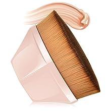 Petal-Shaped Foundation Brush, MS.DEAR Full Coverage Base Makeup Brush Dense Soft Bristles Brush with Storage Case, Suitable for Cream Mixed Liquid or Flawless Powder Cosmetics(Sakura Pink)