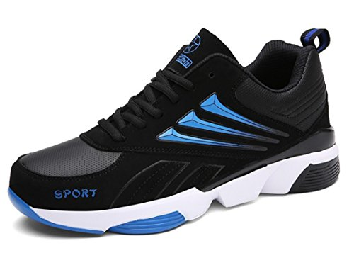 Men's Breathable Outdoor Athletic Running Shoes Black Blue