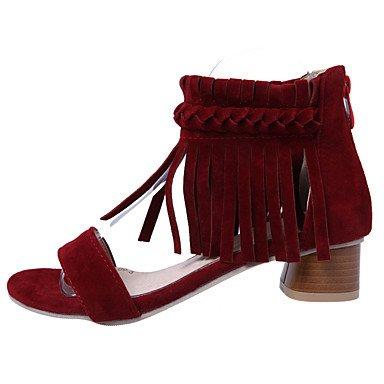 LvYuan Da donna-Sandali-Formale-Altro-Quadrato-Finta pelle-Nero Rosso Beige Black