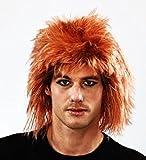 Ginger Shaggy Wig Jon Bon Jovi Style Fancy Dress Stag Do Rocker Messy Hair
