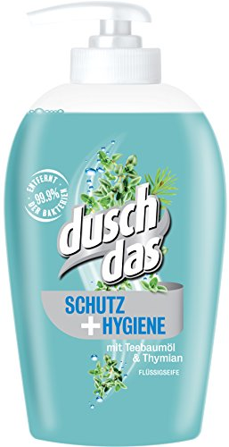 Duschdas Flüssigseife Schutz & Hygiene, 6er Pack (6 x 250 ml) (Schaum-pumpe Handseife)
