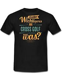 Sportart Cross Golf Es Gibt Wichtigeres Als RAHMENLOS Retro Petrol Hobby Geschenk Männer T-Shirt von Spreadshirt®