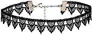 Alwan-Accessories Black Lace Choker Necklace for Women - EE3760NBA
