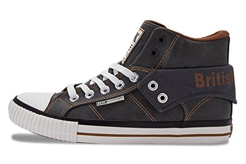 British Knights - Roco, Sneaker alte Uomo Grigio/Bianco
