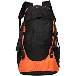 Zwart Black And Orange 35 Ltrs Free Size Backpack / Rucksack