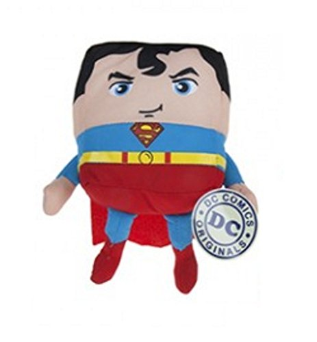 "PLUSH SUPERMAN JUSTICE LEAGUE 18CM CUBIES - 5.5"" cube - SOFT TOY - DC COMICS - TEDDY SUPER MAN BATMAN / SUPERMAN / THE FLASH"