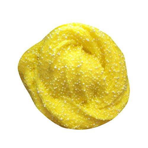DZT1968 DZT1968 60ml Fluffy Floam scented bot Stress Relief No Borax Kids Sludge Toy (yellow)