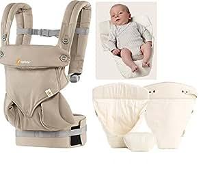 ergobaby 360 moonstone neues 2016 model mit neugeborenen einsatz original n baby. Black Bedroom Furniture Sets. Home Design Ideas