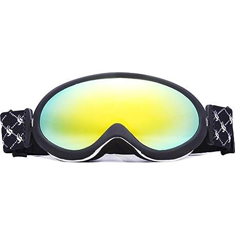Benice? snow-2000 Professional-Occhiali da sci, Snowboard, neve e protezione ai raggi UV, colore: multicolore/doppia lente anti-appannamento per maschera da sci e Snowboard