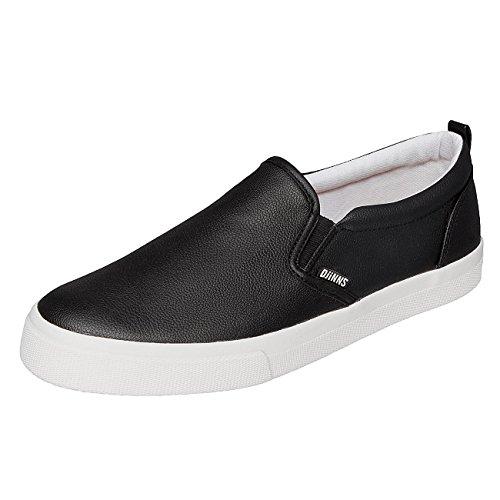 Djinns Uomo Scarpe / Sneaker Leather Slider Nero