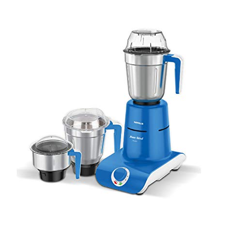 Havells Maxx Grind 750-Watt Mixer Grinder with 3 Jars (Blue)