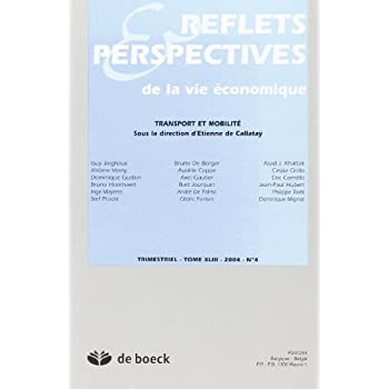 Reflets et Perspectives de la Vie Economiques 20044 Transports Mobilite