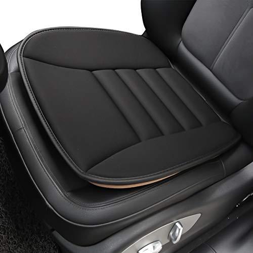 Easy Eagle Cuscino per Sedile Auto in Schiuma di Memoria, Copri Sedile Auto, Cuscino della Copertura del Auto per Supporto Comodo, Nero, 1 Pacco