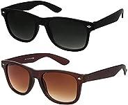 ELEGANTE Men's Bac Wayfarer Sunglasses (Black) -Combo