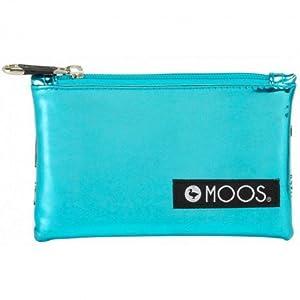MOOS- Neceser Plano pequeño, Color Blanco y Azul Celeste, 16 cm (SAFTA 861623691)