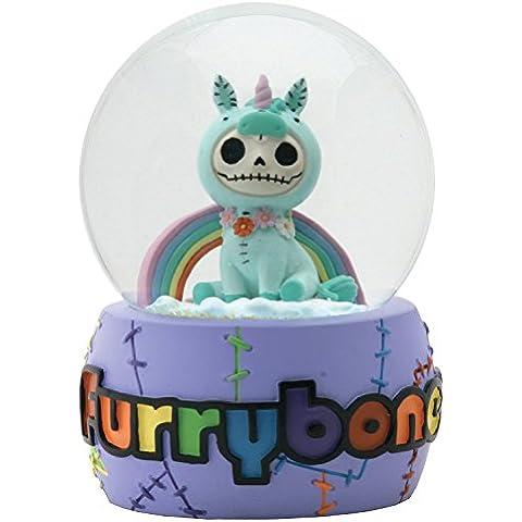 Furry Bones Unie Unicorn Agua purpurina bola de nieve