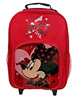 Disney Minnie Mouse - Childs Cabin Wheeled Bag Trolley Suitcase Luggage
