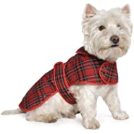 Muddy Paws Highland Tartan Coat Red Medium