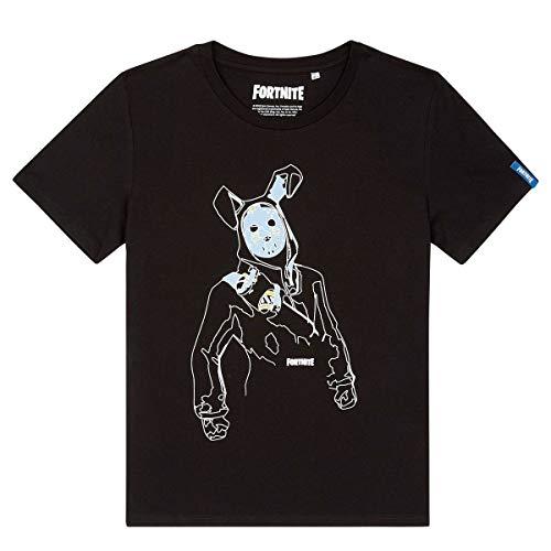 Fortnite Epic Games T-Shirt Maniche Corte Ragazzo - Prodotto Originale con Licenza Ufficiale 3-XXX [Nero Rabbit - 16 Anni - 176 cm]