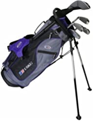 "US Kids Golf Ultralight Set 54"", 133cm - 141cm, Age/Alter 8-10 years, golf clubs for kids, Golfschläger für Kinder/Jugendliche, Fairway Driver, Iron/Eisen 6,8, Pitchting Wedge, Putter, Bag, maximum distance and control, soft feel, lightweight, stainless steel"