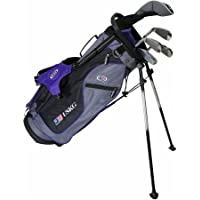 'US Kids Golf Ultralight Set 54, 133 cm – 141 cm, Age/Età 8 – 10 years, Golf Club for Kids, Golf racchetta per bambini/giovani, Fairway Driver, Iron/ferro 6,8, Pit chting Wedge, Putter, Bag, Maximum Distance and control, Soft Feel, Lightweight, Stainless Steel