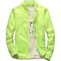 Men Jacket Home Chaquetas Rompevientos para Hombres (Color : Green, Size : US X-Large)