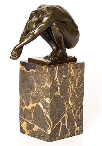 aubaho Bronze Schwimmer Turmspringer Skulptur Akt Erotik Skulptur Figur antik Stil